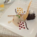 Must try Discovery Shores signature chocolate cake with homemade ice cream.