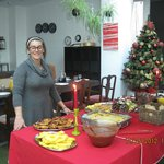 Lady who has prepared this fabulous holiday meals !!!