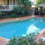 Heated salt-water pool