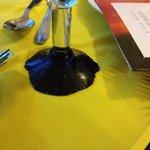 Wine Glass at Steak House