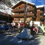 The Entrance of main train station at Zermatt