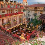 Looking down on the Mission Inn Restaurant