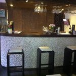Small bar in open plan lounge area