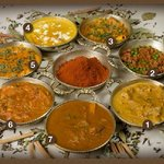 CURRIES: Chicken Korma, Keema Mattar, Lamb/Chicken Vindaloo, Murg Akbari, Chicken Tikka Masala