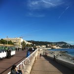 The Promenade des Anglies (The English Walk) in front of the hotel