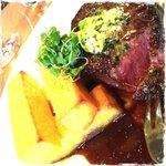 steak with polenta fries