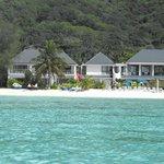Muri Lagoon looking back at resort