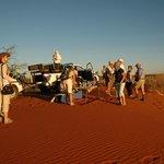 Sundowner on a Kalahari Dune