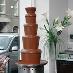 Our Giant Chocolate Fountain which we make our delicious goodies and our Famous Hot Chocolate
