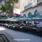 Skadarlija St Belgrade