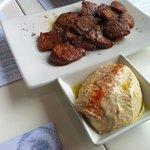 humus and churizo