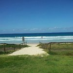 Beach access 20 metres from the room