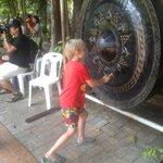 Hitting the big gong