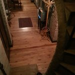 Inside the house I stayed, view from the stairs
