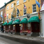 Some of the store fronts in downtown Old Quebec