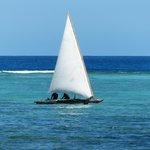 Sea outside Zanzibar Retreat Hotel