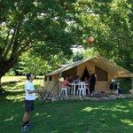 Tente lodge en location au camping col d'ibardin au Pays Basque