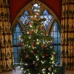Upstairs traditional Christmas tree