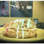 peppermint bark scone--all bakery baked in house. you can always ask for one out of the oven ;)