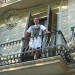 Op mijn balkon van mijn appartement