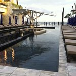 Poolside at SAKALA- viewing the beach. Amazing.