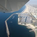 Flying over the beaches of L.A