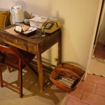 A writing desk in the Triple room.