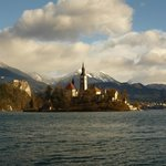 Lake Bled Island (hotel on right)