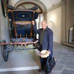 Carriage in entry way to Mansi Museum.