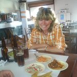 free appetizers with every beer ordered ...shrimp ..octopus ..shark ..
