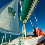 Sailing off of Vieques
