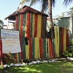 The front 'facade' - tin shack