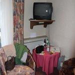 Sitzecke des Hotelzimmers