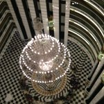 De lobby vanaf boven