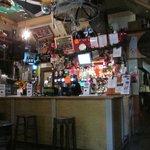 The bar inside!