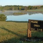 Prairie Creek Lake, stocked, ready for our guests!
