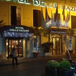 Hotel Delle Nazioni façade, Christmas eve 2012