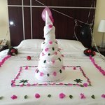 towel birthday cake
