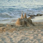 Bruno's handiwork of sandcastle building