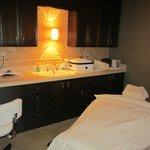 Spa massage room