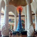 Crystal Christimas tree in the lobby