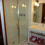 Intense white bathroom. Nice sink.