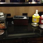 kickback dinner condiment area