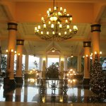 Riu lobby at Christmas.