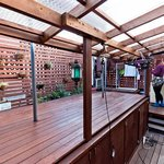 The roof terrace/dining/hangout/laundry