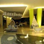 Ultra-Modern Open Air Lobby at Night