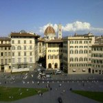 The view from the room onto Duomo and city