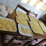 Pasta drying at our Cooking Class
