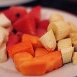 Amazing, huge fruit plate.