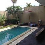Pool side at villa 12